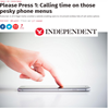 The Independent - Please Press 1: Calling time on those pesky phone menus